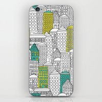 building iPhone & iPod Skins featuring Building by AlakaZoo