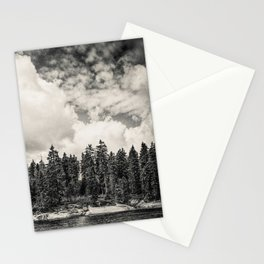Far Away Clouds Passing By Stationery Cards