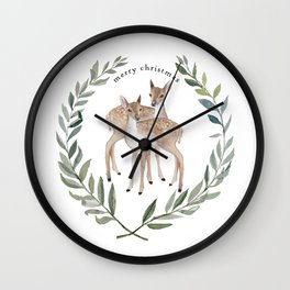 Fawn duo Wall Clock