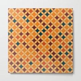 Abstract retro geometric pattern Metal Print