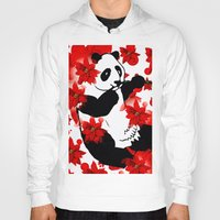 red panda Hoodies featuring Panda by Saundra Myles