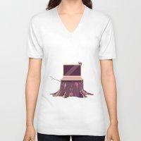 computer V-neck T-shirts featuring Computer by Dorian Danielsen