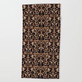 Leopard Suede Beach Towel