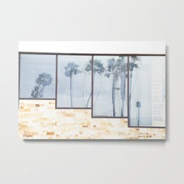 Rainy Days and Palm Tree Reflections Metal Print