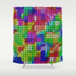 sweeping pattern 01 Shower Curtain