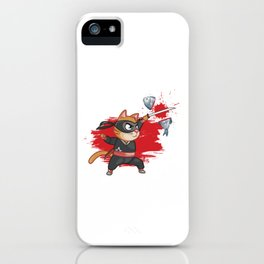 Cat Ninja Manga Fish Anime Japanese Manga Gift iPhone Case