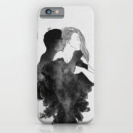 You are my peaceful heaven b&w. iPhone Case