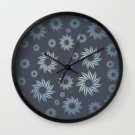 Multicolored flowers with neutral background in pastel colors. Wall Clock