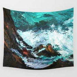 Pacific Ocean Rocks Seascape Wall Tapestry