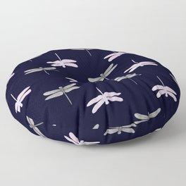 midnight dragonflies Floor Pillow