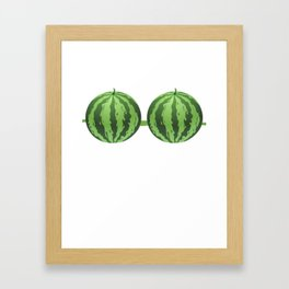 Watermelon Bra Funny Fake Brassiere Lazy Costume Framed Art Print