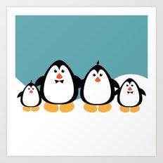 NGWINI - penguin family v4 Art Print