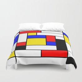Mondrian Geometric Art 2 Duvet Cover