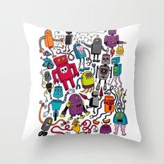 Robots 2 Throw Pillow