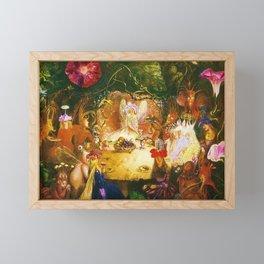 The Fairies Banquet Magical Realism Landscape by John Anster Fitzgerald Framed Mini Art Print