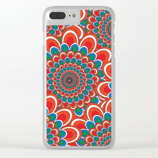 Pattern F Clear iPhone Case