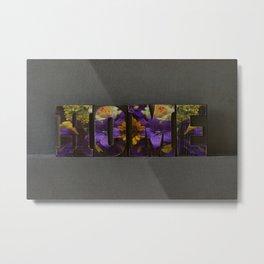 Floral HOME Metal Print