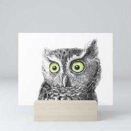 Owl portrait Mini Art Print