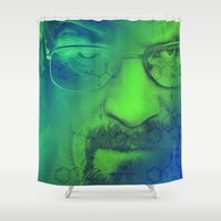 breaking bad Shower Curtains featuring Breaking Bad by Scar Design