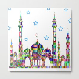City of Jewel Tones Metal Print