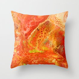 The Ant on Fire Throw Pillow