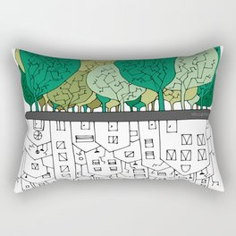 SCONFINAMENTI-CITY AND NATURE Rectangular Pillow