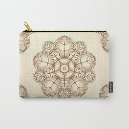 Beige elegant ornament fretwork Baroque style Carry-All Pouch