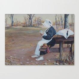 Sunbonnet painting Canvas Print