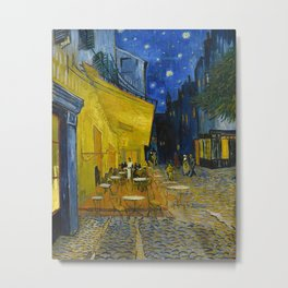 Cafe Terrace at Night by Vincent van Gogh, 1888 Metal Print