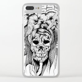 Mis muertos - Hummingbird Hat Clear iPhone Case