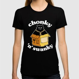 Funny Chonky ´n´ Swanky Black Cat In The Box Gift T-shirt