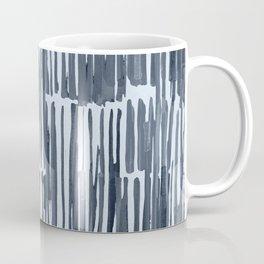 Simply Bamboo Brushstroke Indigo Blue on Sky Blue Coffee Mug