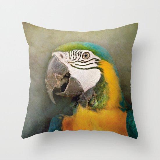 Portrait of a Parrot Throw Pillow