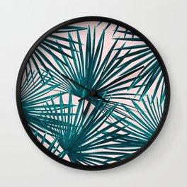 Tropical Fan Palm Leaves #7 #tropical #decor #art #society6 Wall Clock