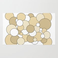 Bubbles - brown and white Rug