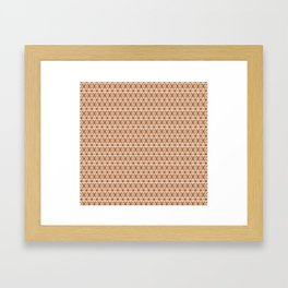 Copper and White Lines Framed Art Print