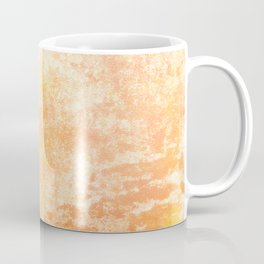 Marbling structur in warm orange tones Coffee Mug