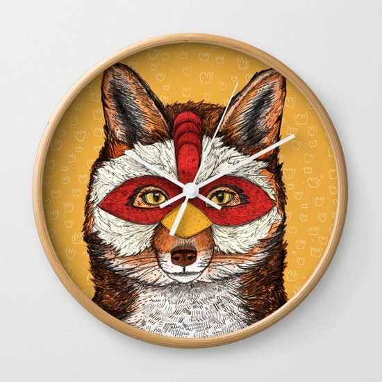 ChickenFox Wall Clock
