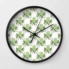 Festive Holiday Octopus Wall Clock