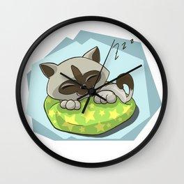 Dreaming Kitten Wall Clock