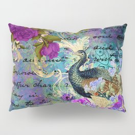 Elegant and Luxurious Colorful Peacock Art Print Pillow Sham