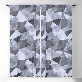 Abstract Geometrical Triangle Patterns 4 Illuminated Violet - Twilight Mist - Carousel Purple Blackout Curtain