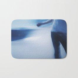 Skater in Slow Motion Bath Mat
