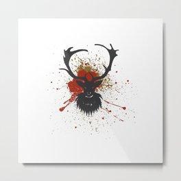 Grunge Stag Metal Print