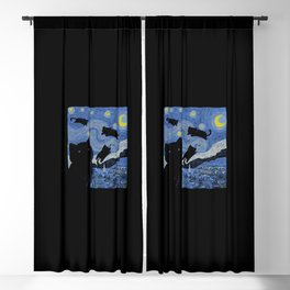 The Starry Cat Night Blackout Curtain