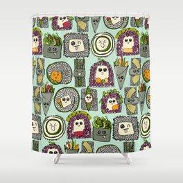 veggie sushi mint Shower Curtain