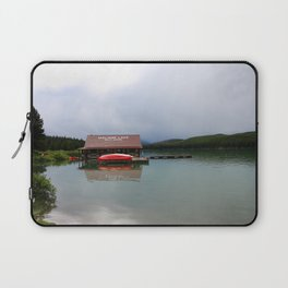 Maligne Lake Boathouse Laptop Sleeve