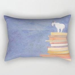 Goat on a Cliff Rectangular Pillow