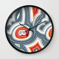 agate Wall Clocks featuring Agate by Alex Morgan