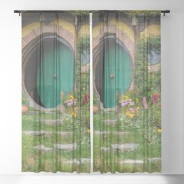 Green Magical Home, New Zealand Sheer Curtain